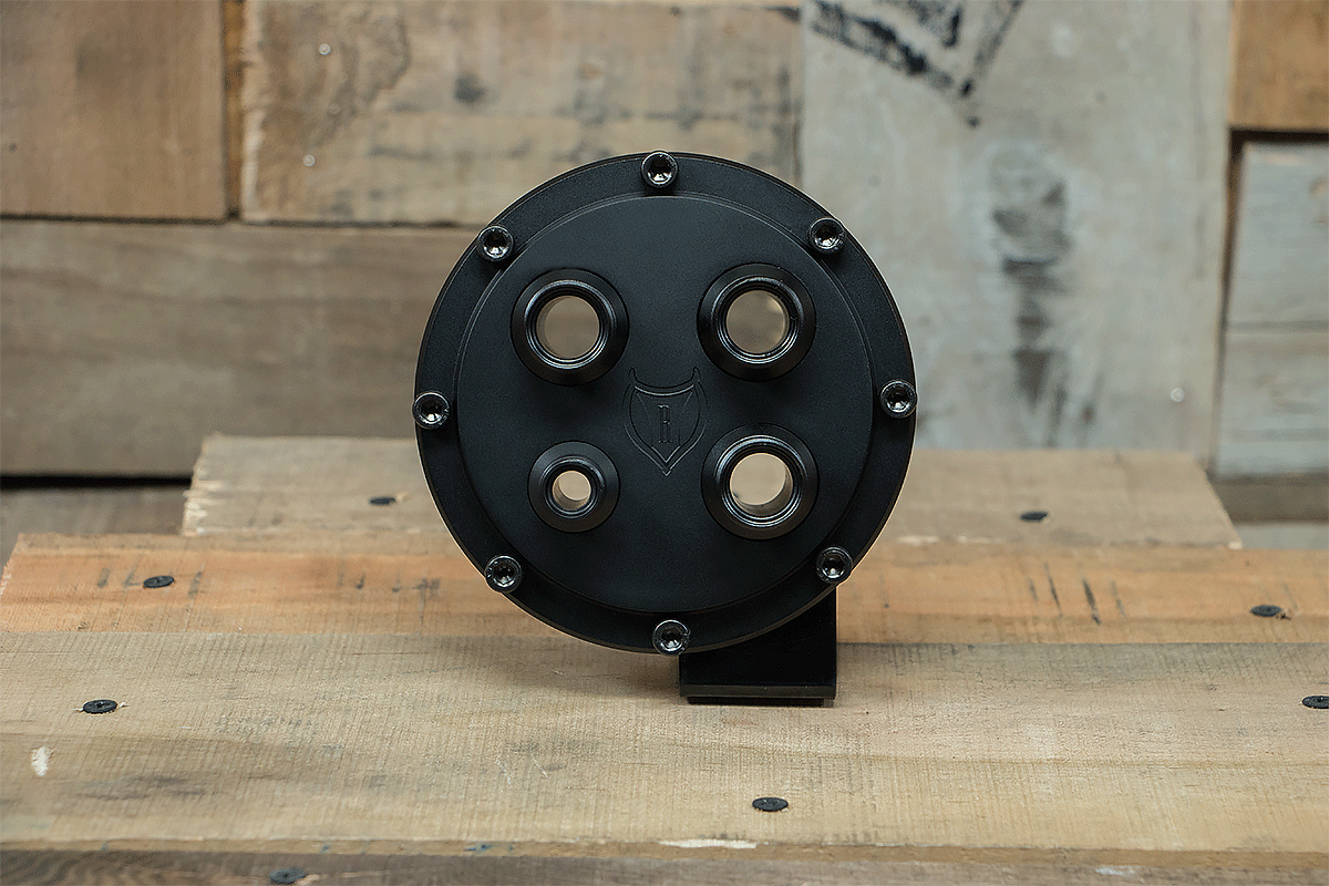 products RESTOMOD AIR BULKHEAD SYNISTER ROUND BLACK CAP FRONT