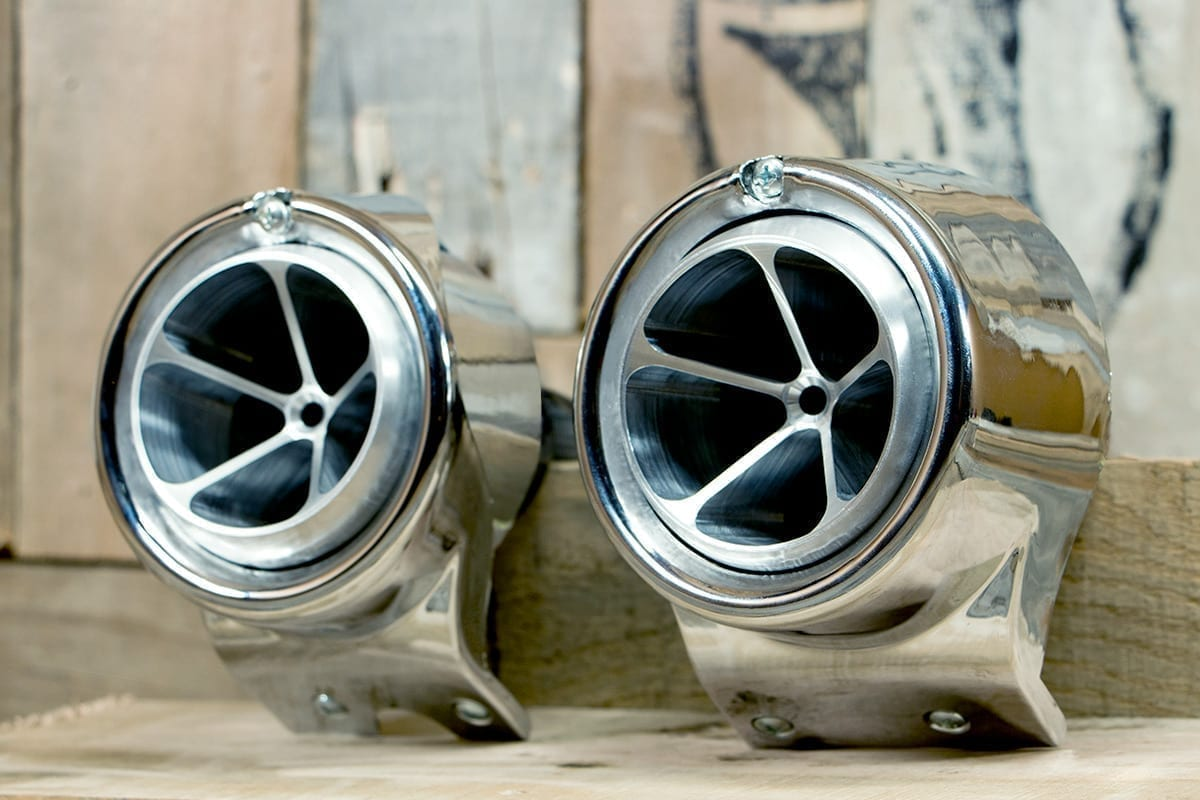 products RESTOMOD AIR GM BIG REPLACEMENT SATIN CHROME HOUSING LEFT