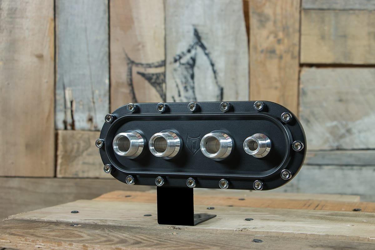 products RESTOMOD AIR BULKHEAD SYNISTER HORIZONTAL POLISHED CAP LEFT