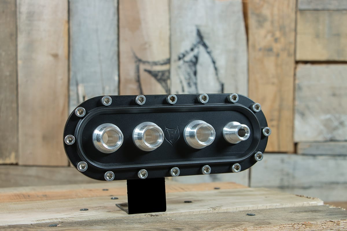 products RESTOMOD AIR BULKHEAD SYNISTER HORIZONTAL STAINLESS CAP RIGHT