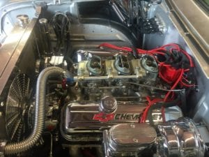 1957 chevy Bel Air A/C install with Restomod Air's Haymaker II system
