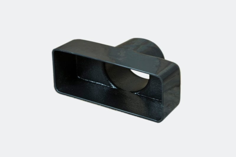 products 0043 10B Rectangular Vent Adaptor 4 38 x 2