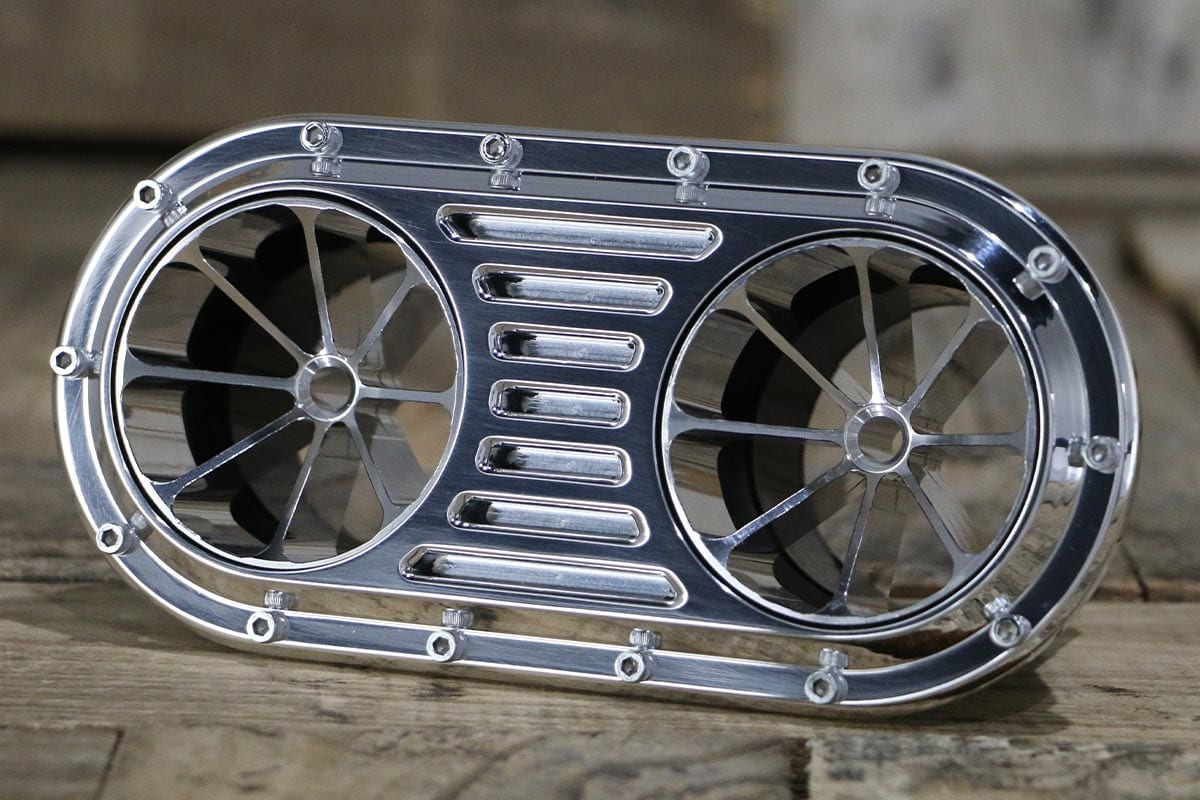 DIABLO DUAL 8 VANE POLISHED AC VENT LEFT IN