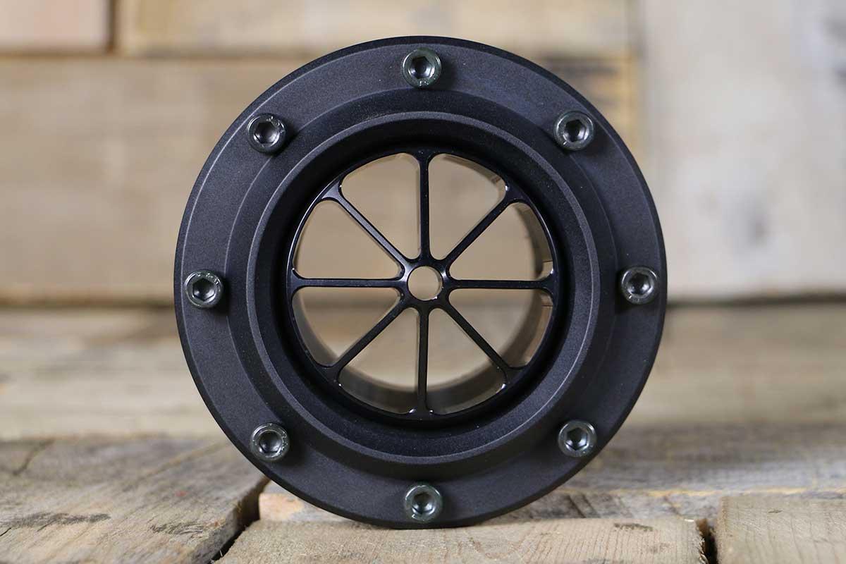 DIABLO WITH CAP SCREWS 8 VANE SYNISTER BLACK CONVEX STRAIGHT