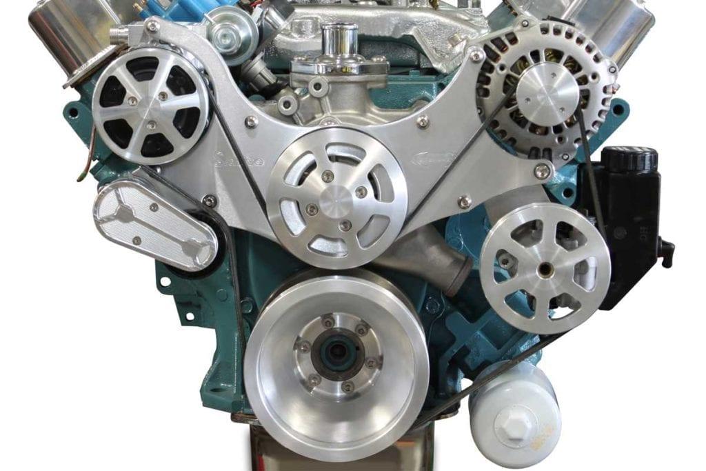 MS107 67M mopar 383 426 440 s drive serpentine pulley kit 1