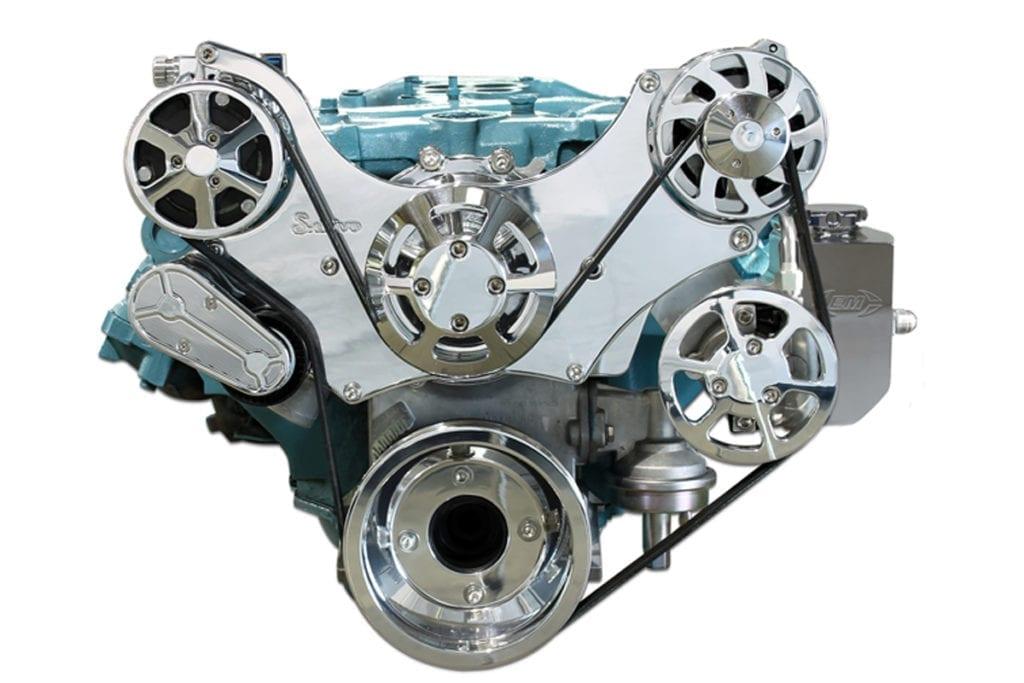MS117 60BP pontiac s drive serpentine pulley kit 8 bolt 1
