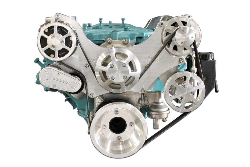 MS117 65M pontiac s drive serpentine pulley kit 11 bolt