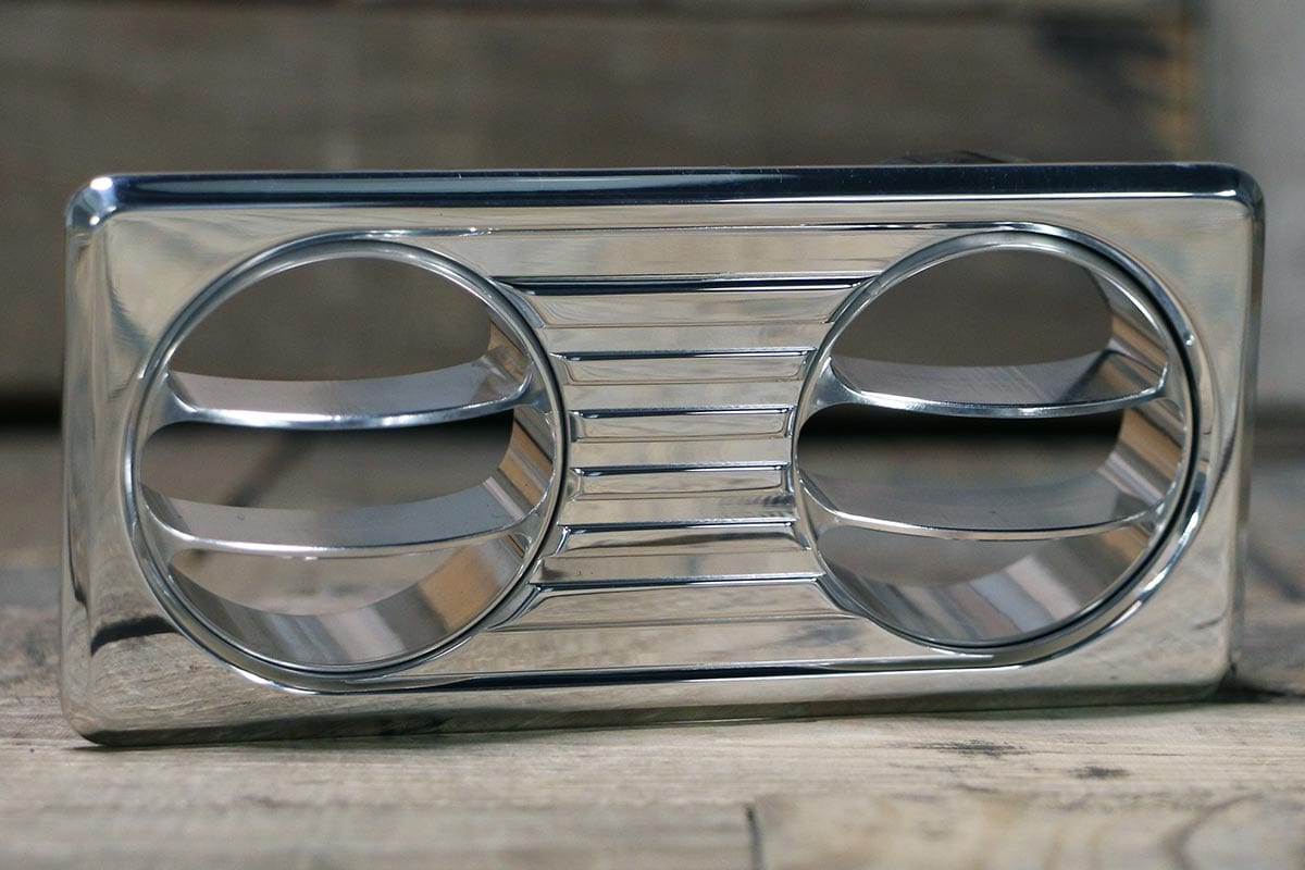 QUANTUM DUAL DUAL VANE POLISHED AC VENT RIGHT OUT