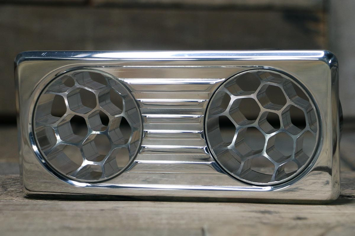QUANTUM DUAL HELIX POLISHED AC VENT LEFT IN