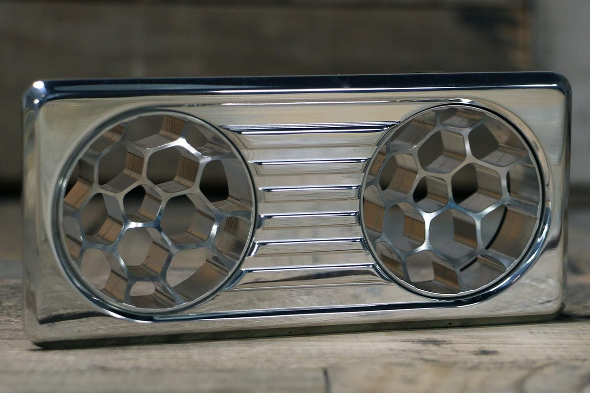 QUANTUM DUAL HELIX POLISHED AC VENT RIGHT IN