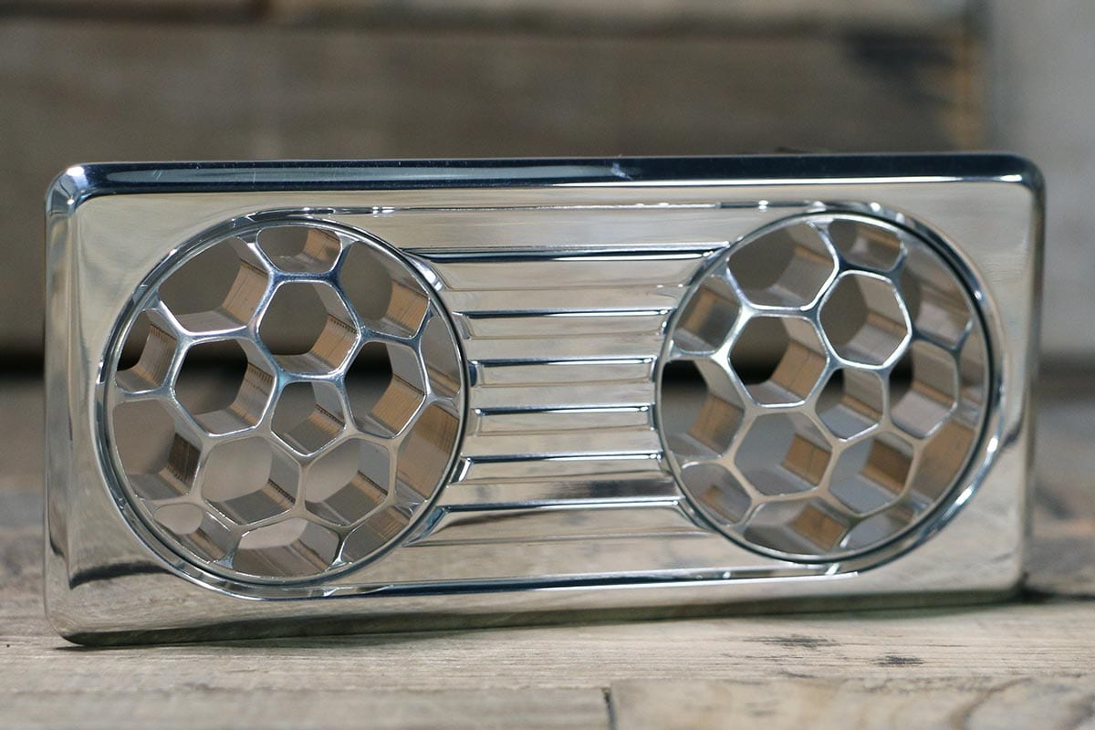 QUANTUM DUAL HELIX POLISHED AC VENT RIGHT OUT