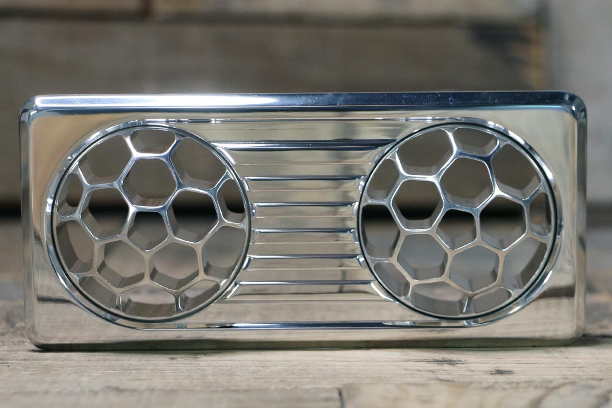 QUANTUM DUAL HELIX POLISHED AC VENT STRAIGHT OUT
