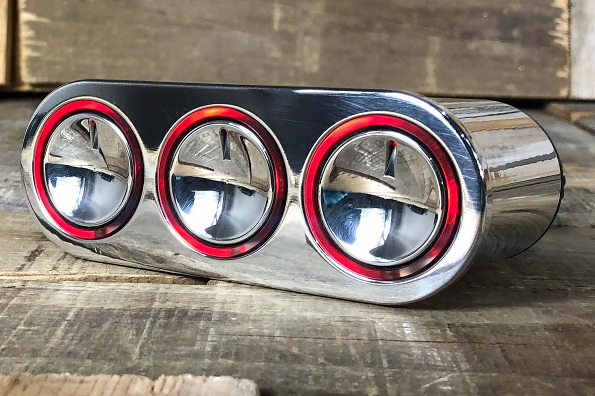 ELEVATE RED LED POLISHED LEFT CLOSED
