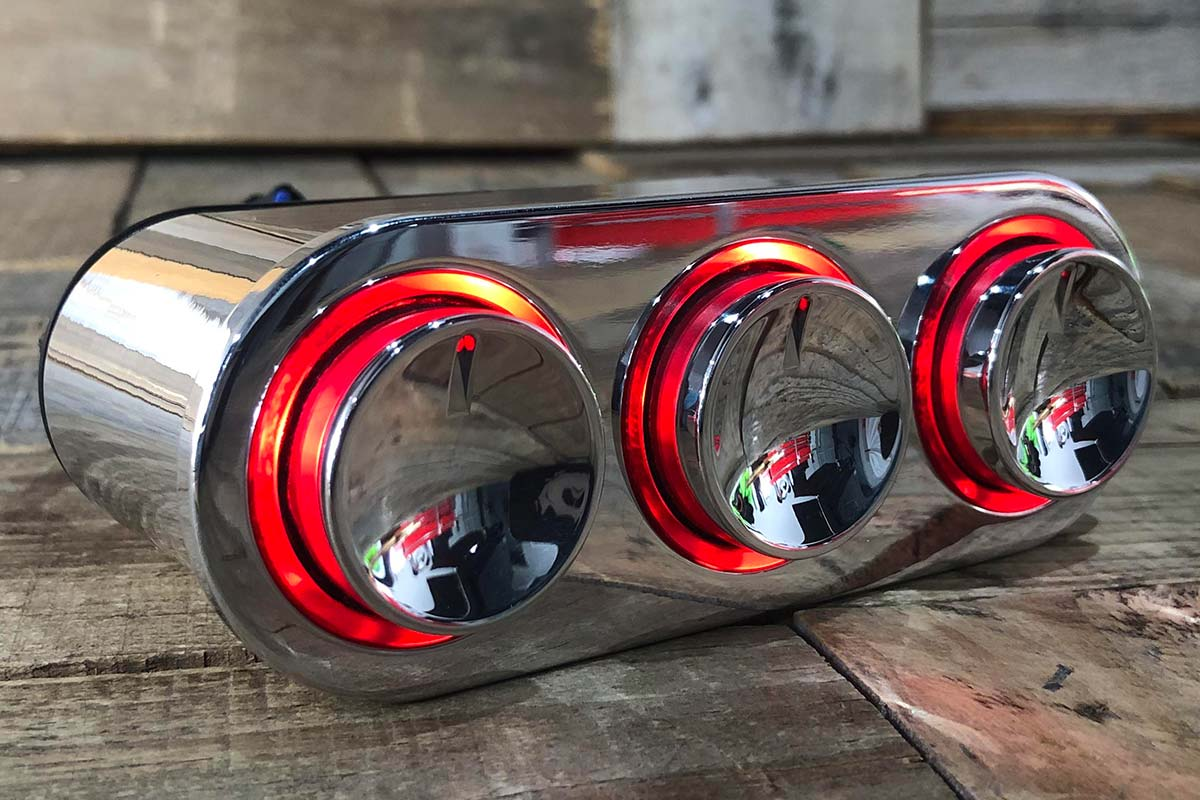 ELEVATE RED LED POLISHED RIGHT OPEN