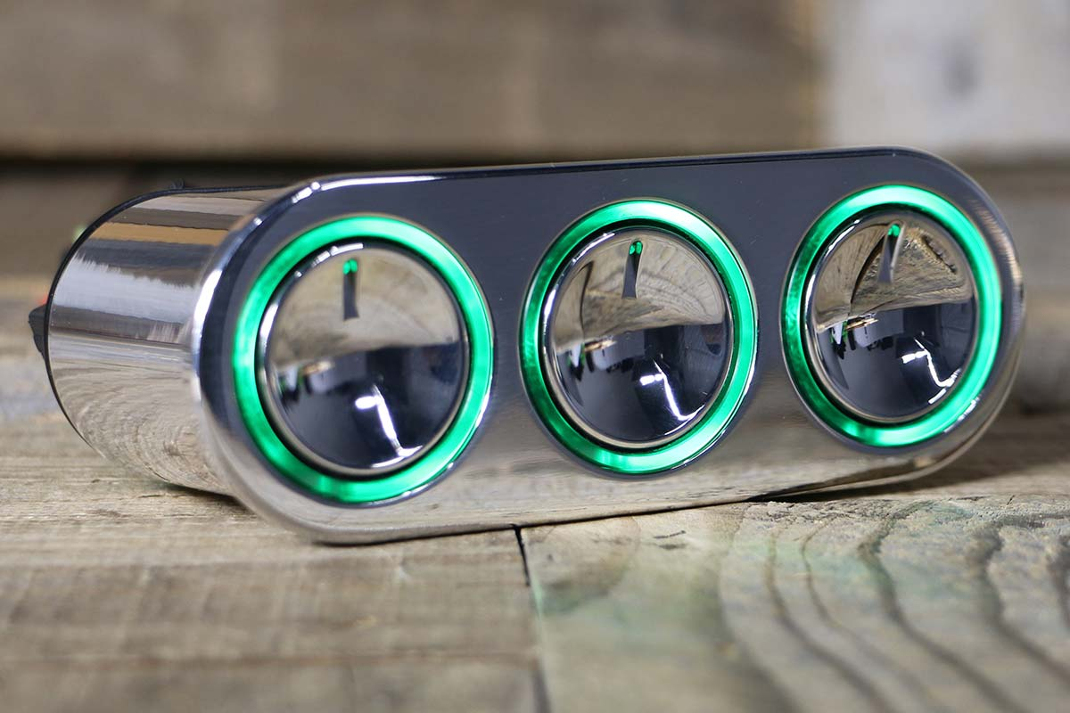ELEVATE GREEN LED POLISHED RIGHT CLOSED