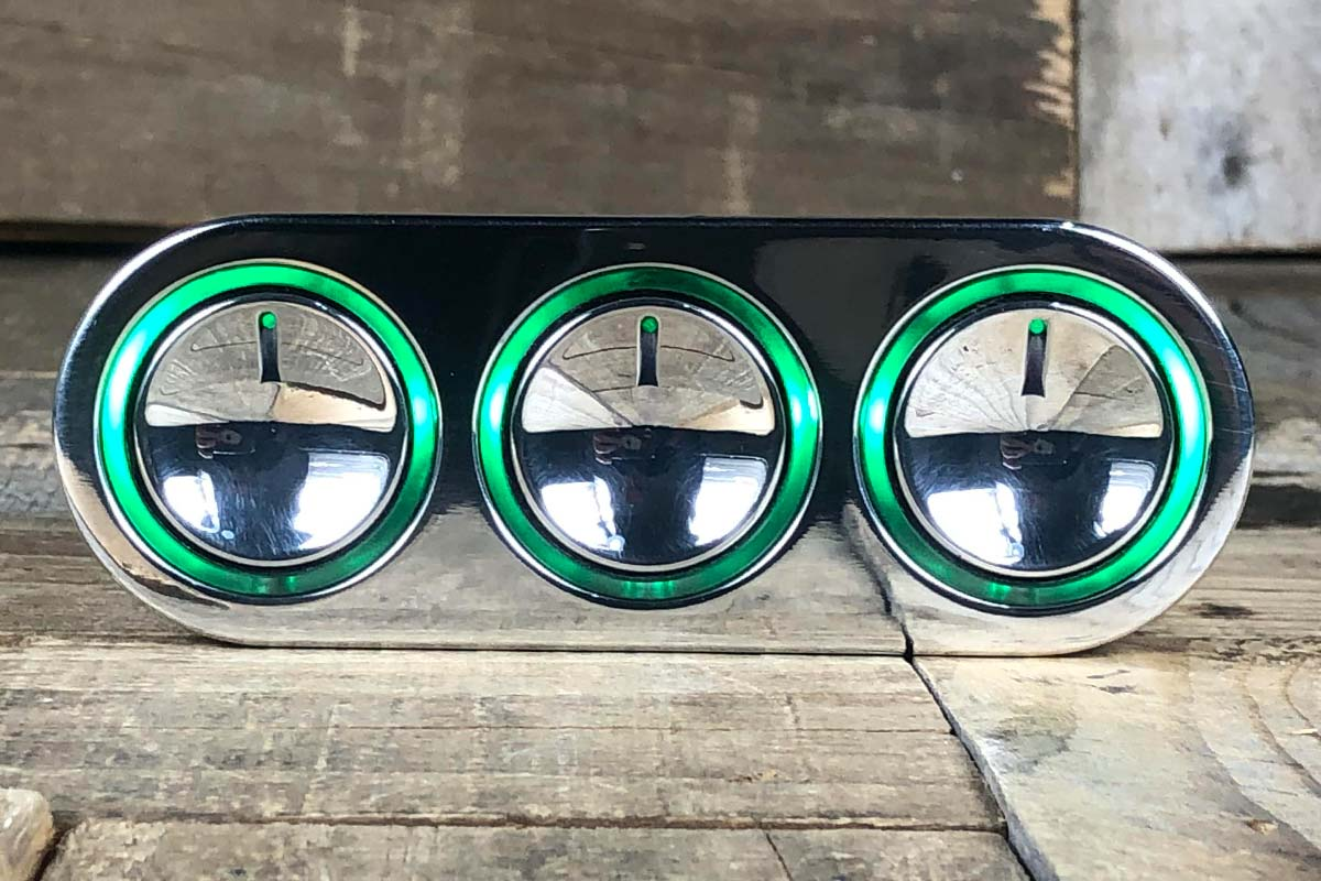 ELEVATE GREEN LED POLISHED STRAIGHT CLOSED 2