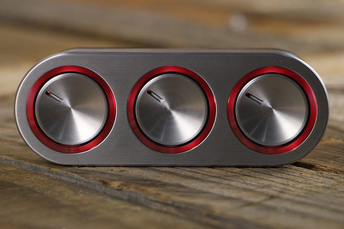 Elevate Push Button A/C Controls Red LED STRAIGHT CLOSED