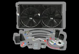hmmwv dual fan condenser
