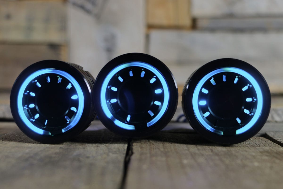 PODS CYAN LED SYNISTER BLACK STRAIGHT