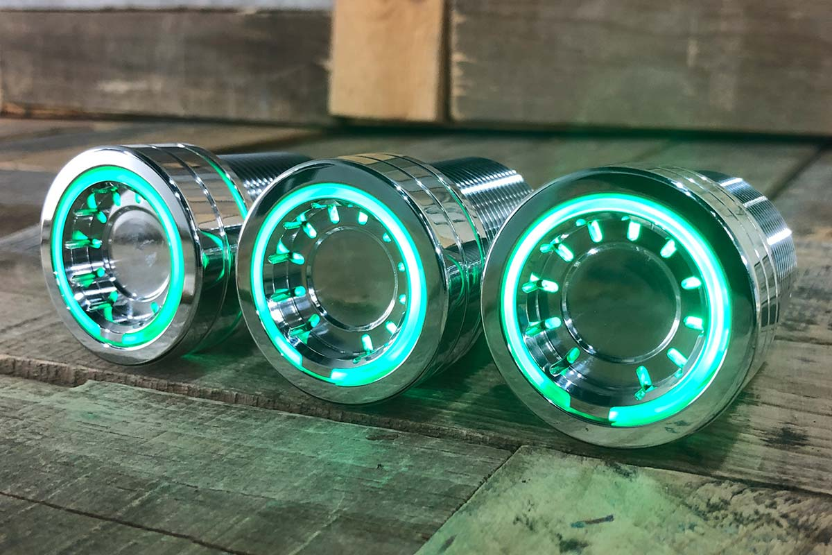 PODS GREEN LED POLISHED LEFT