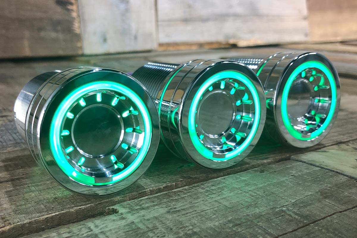 PODS GREEN LED POLISHED RIGHT