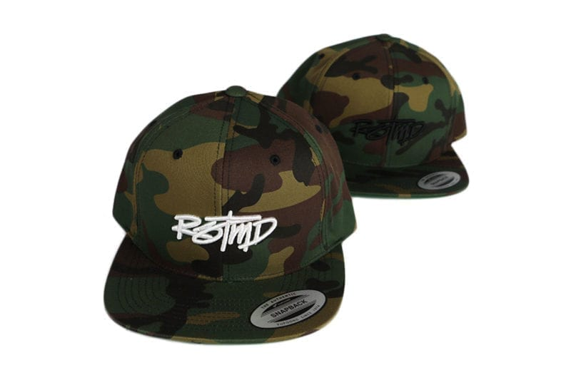 camo snap back both colors
