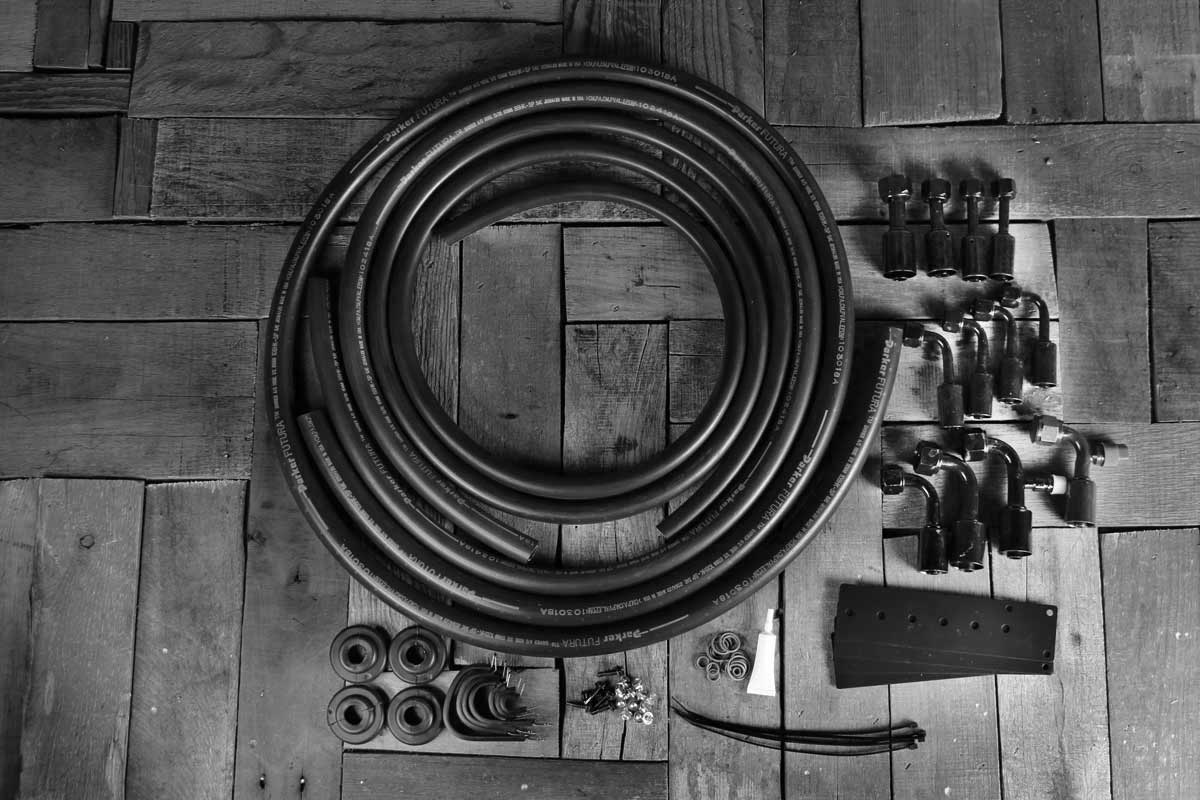 restomod air hose kit no drier bw