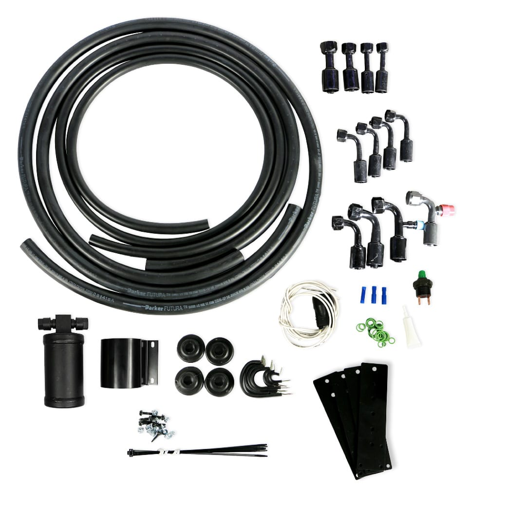 restomod universal hose kit with drier