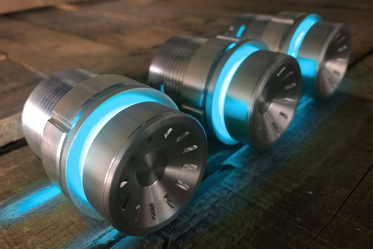 QUANTUM PODS CYAN LED SATIN RIGHT