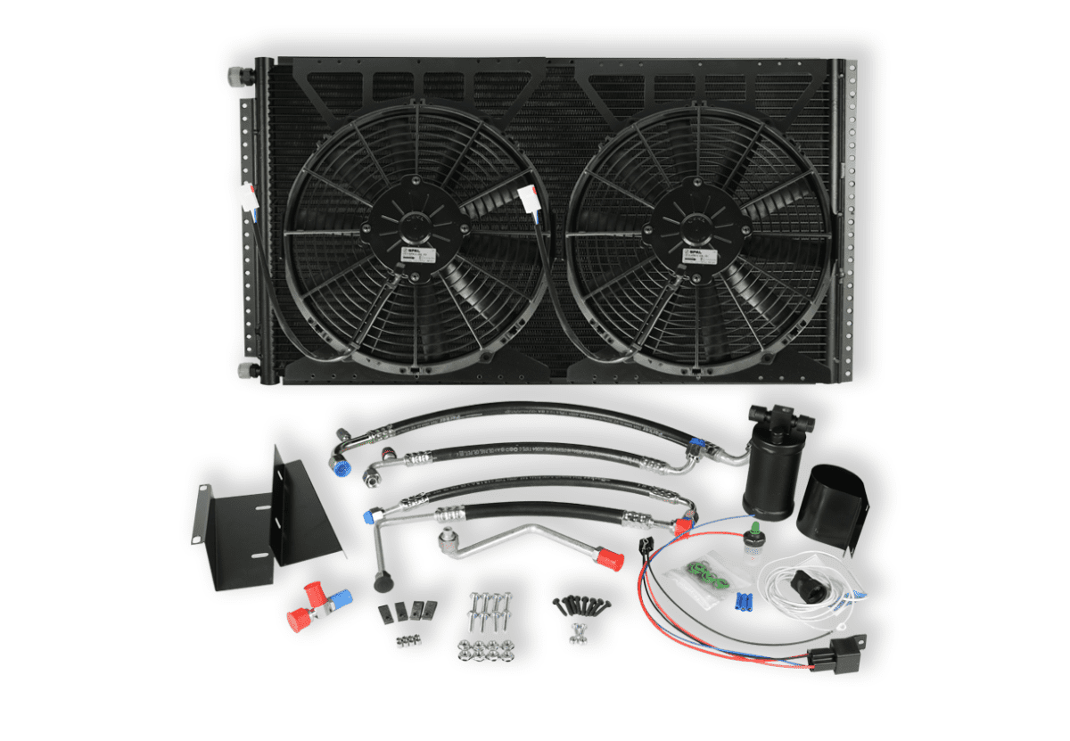 HUMVEE DUAL FAN CONDENSER KIT WHITE BACKGROUND