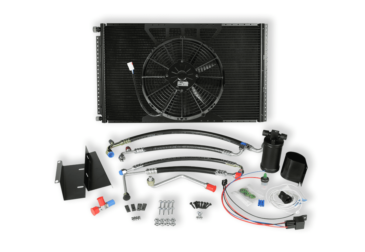 HUMVEE SINGLE FAN CONDENSER KIT WHITE BACKGROUND