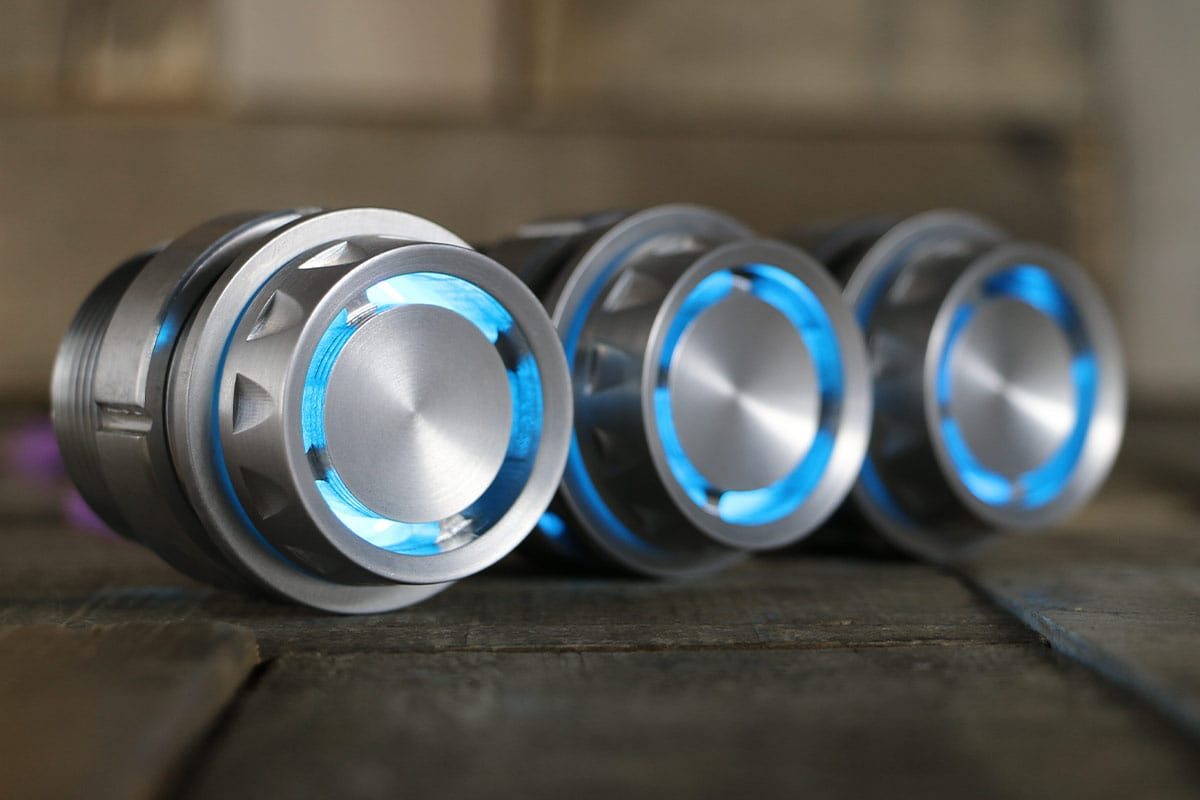 REACTOR PODS SATIN CYAN LED RIGHT