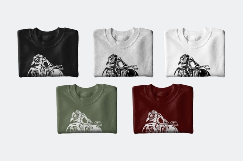 MOTORCYCLE CREWNECK ALL COLORS