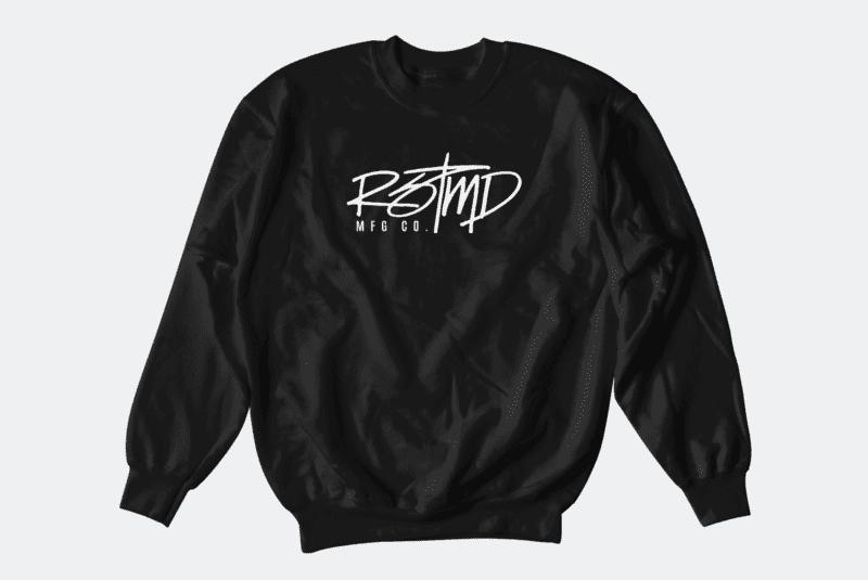 RSTMD HANDWRITTEN CREWNECK BLACK