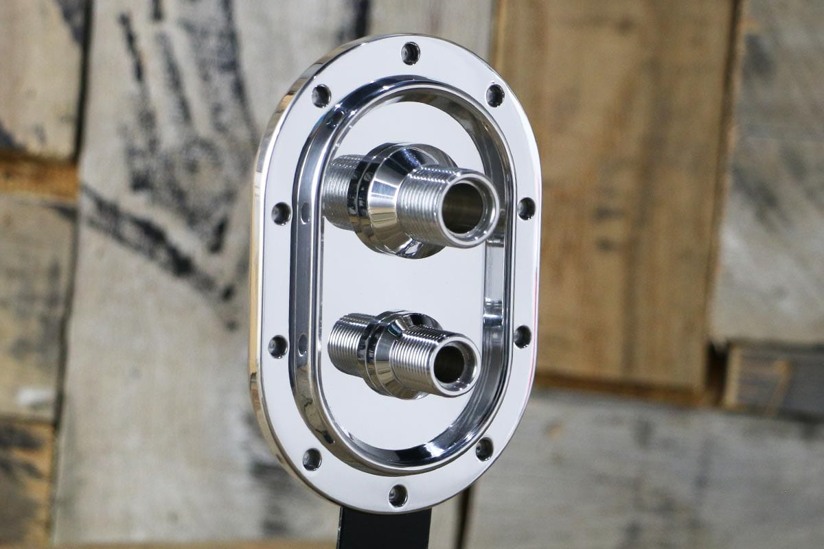 DIABLO REVOLVER AC ONLY RAD SUPPORT POLISHED BULKHEAD RIGHT