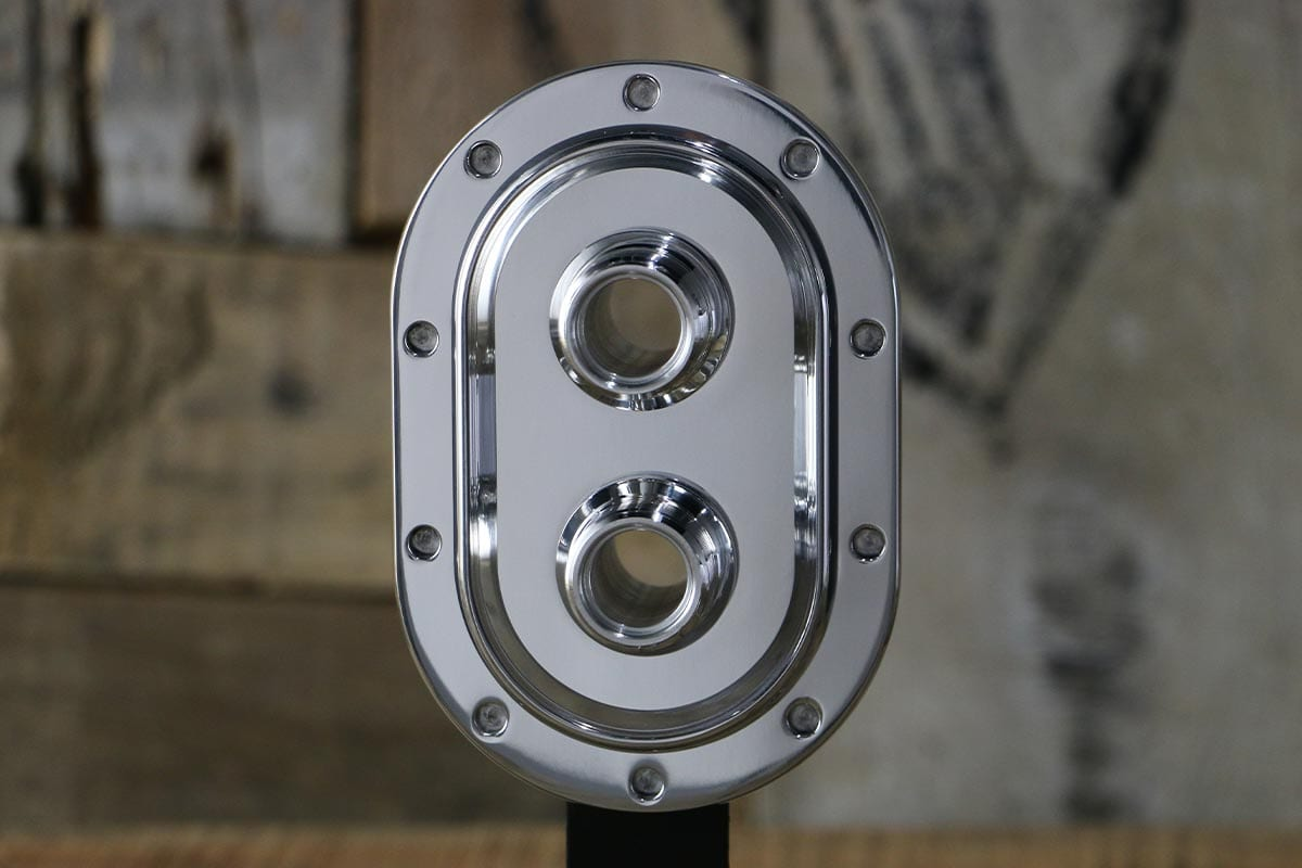 DIABLO REVOLVER HEATER ONLY POLISHED AC BULKHEAD STRAIGHT