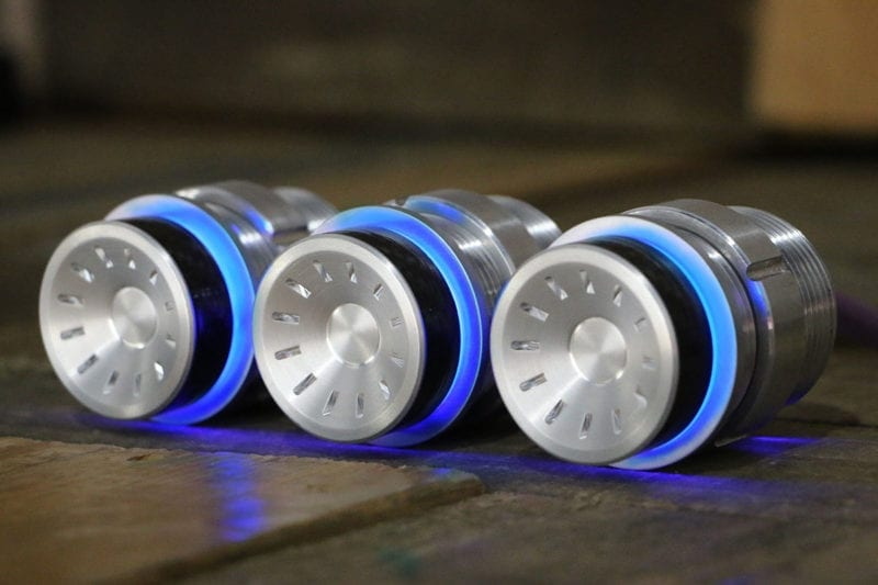 QUANTUM CARBON FIBER PODS BLUE LED SATIN LEFT