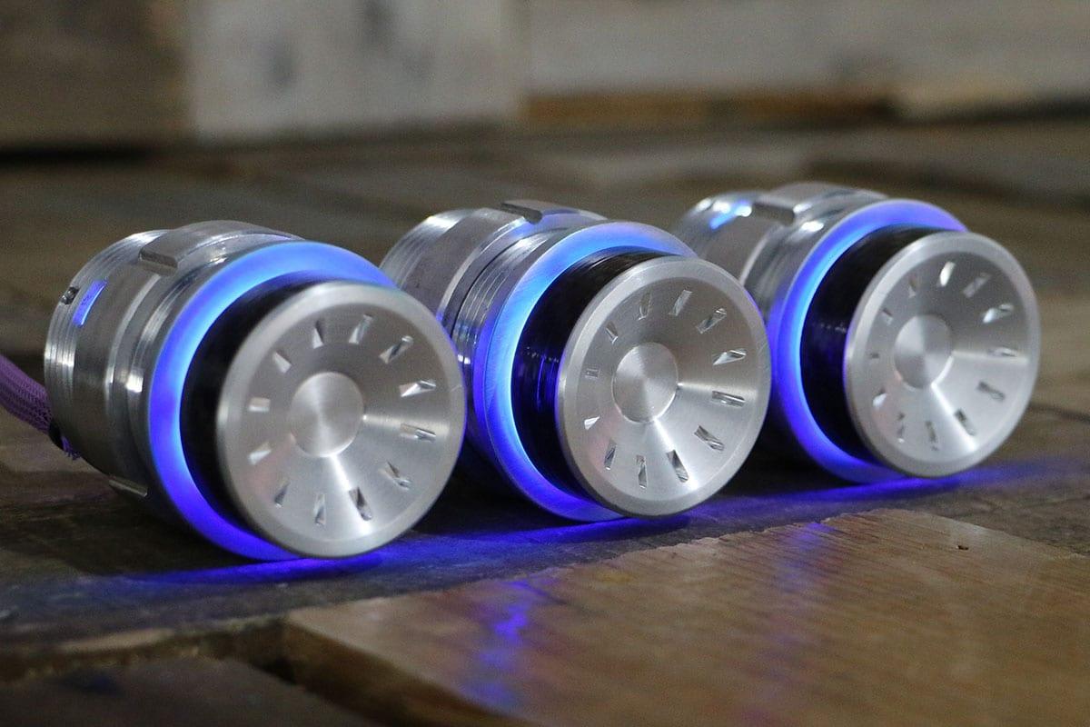 QUANTUM CARBON FIBER PODS BLUE LED SATIN RIGHT