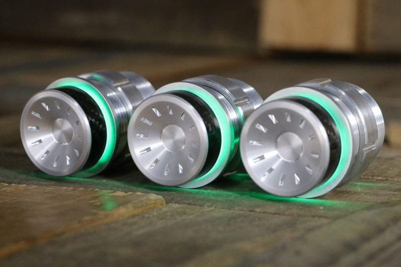 QUANTUM CARBON FIBER PODS GREEN LED SATIN LEFT