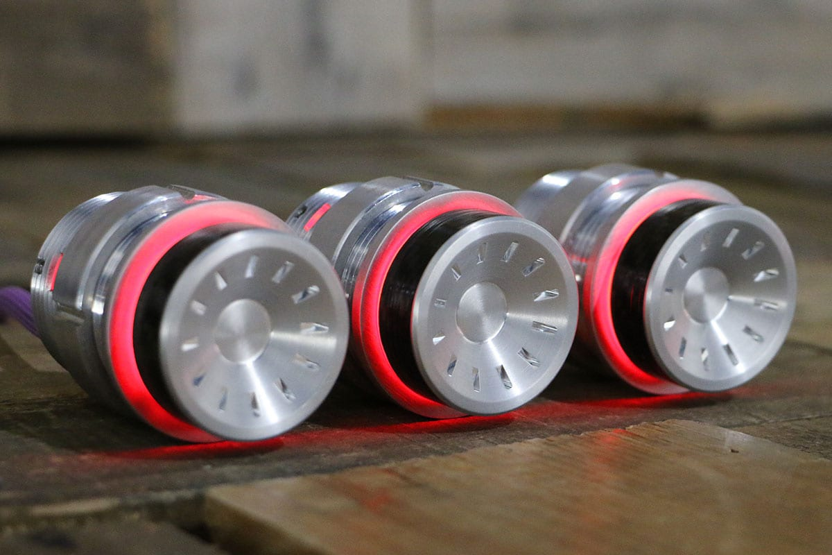 QUANTUM CARBON FIBER PODS RED LED SATIN RIGHT