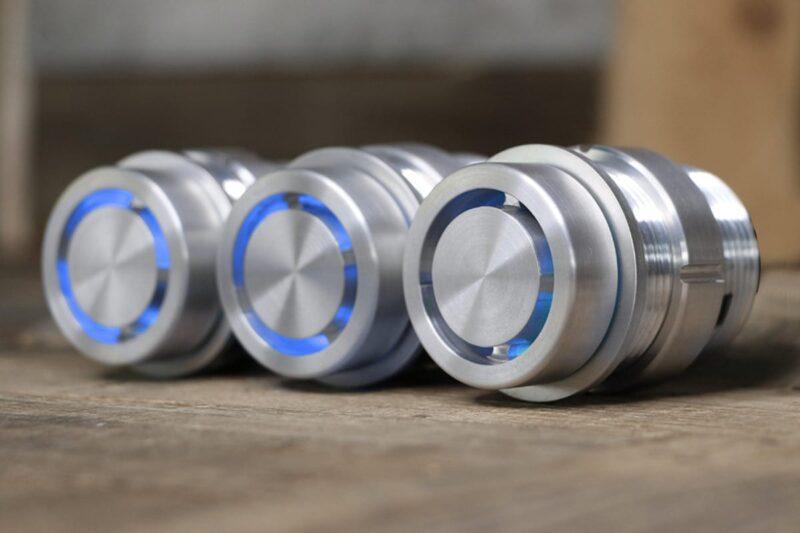 REACTOR SMOOTH PODS BLUE LED SATIN LEFT