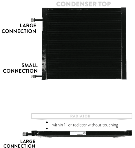 CONDENSER MOUNTING FOR WEB