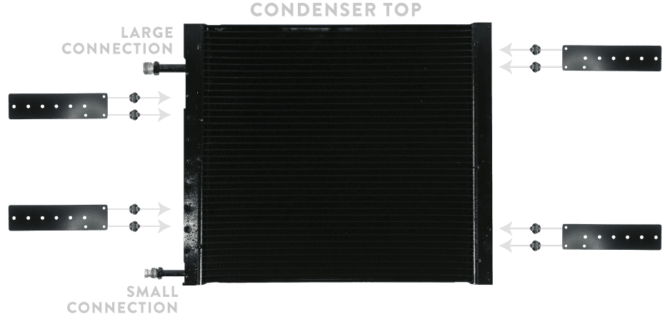 CONDENSER WITH BRACKETS