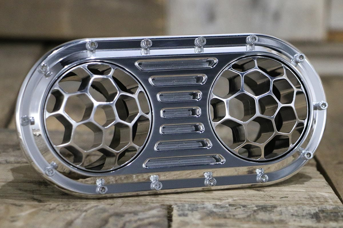 DIABLO DUAL HELIX POLISHED AC VENT RIGHT OUT