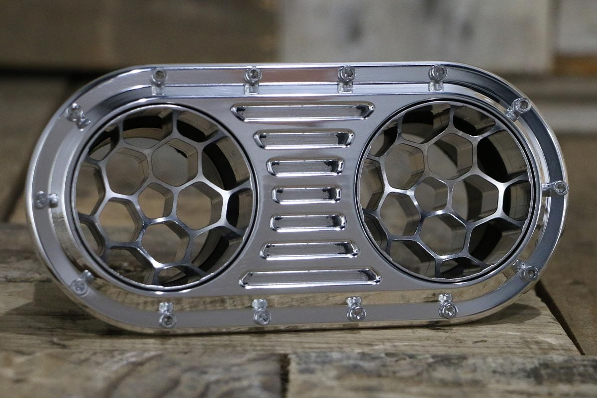 DIABLO DUAL HELIX POLISHED AC VENT RIGTH IN