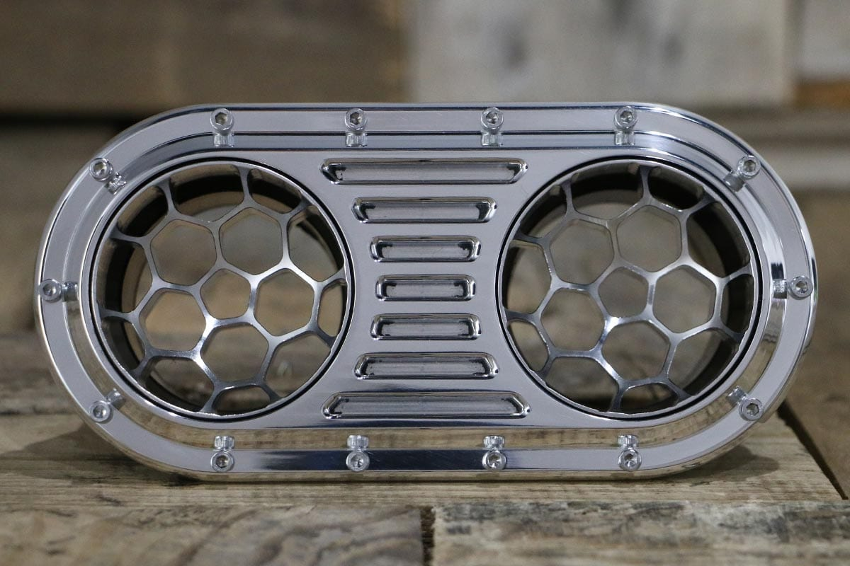DIABLO DUAL HELIX POLISHED AC VENT STRAIGHT IN