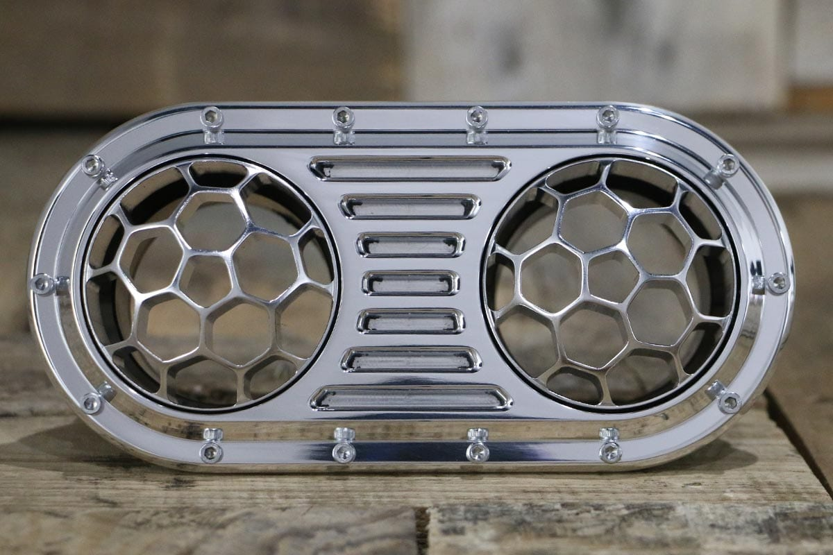 DIABLO DUAL HELIX POLISHED AC VENT STRAIGHT OUT
